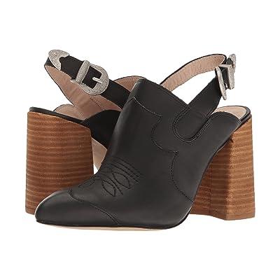 Shellys London Donna Mule (Black Leather) High Heels