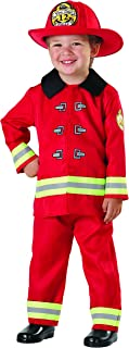 Seasons Fireman Role Play Costume, Red, Size 2T-4T