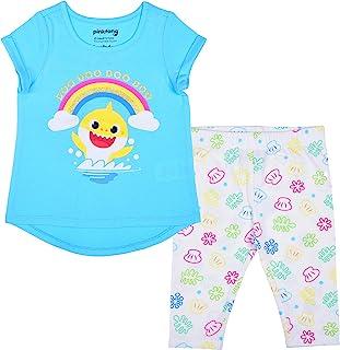 Nickelodeon Baby Shark Girl's 2-Pack Tee Shirt and Leggings Set for Toddlers