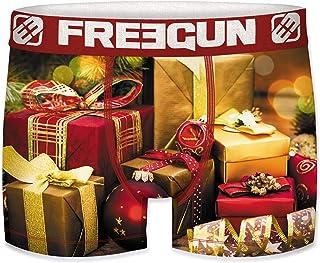 Sponsored Ad - FREEGUN Christmas Boxers for Men, Multicolor
