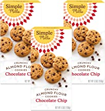 product image for Simple Mills Almond Flour Chocolate Chip Cookies, Gluten Free and Delicious Crunchy Cookies, Organic Coconut Oil, Good for Snacks, Made with whole foods, 3 Count (Packaging May Vary)