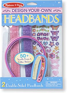 Melissa & Doug Design-Your-Own Headbands Jewelry-Making Kit (50+ Stickers, Great Gift for Girls and Boys - Best for 3, 4, 5 Year Olds and Up)
