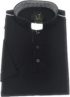 Liturgical Creations Mens European Cotton Short Sleeve Clergy Polo Shirt