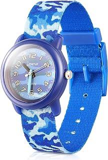 Kids Watches Cute Cartoon Waterproof Nylon Fabric Strap Children Toddler Wrist Watch Time Teacher Birthday Xmas 3-10 Year Boys Girls (Camouflage, Blue Band)