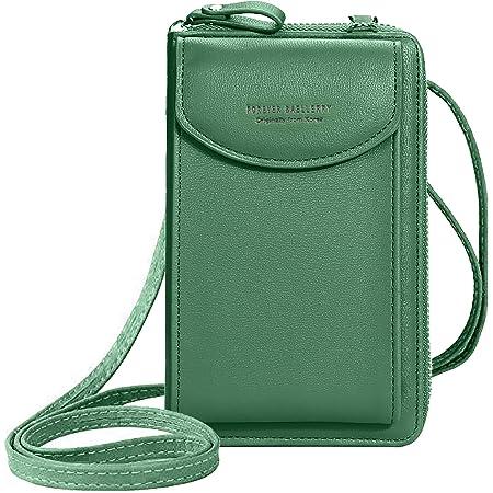ZhengYue Frauen Brieftasche Cross-Body Tasche Leder Geldbörse Handy Mini-Tasche Kartenhalter Schulter Brieftasche Tasche