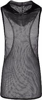 (フィーショー)FEESHOW タンクトップ メンズ ベスト シースル ストレッチ スポーツウェア ジムウェア メッシュ 通気性良い メンズTシャツ