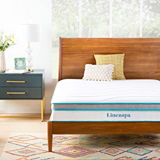 Linenspa 10 Inch Memory Foam and Innerspring Hybrid Mattress - Medium Feel - Twin