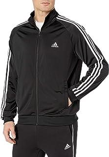 Adidas Mens Essentials 3 rayas Tricot chamarra de pista para hombre