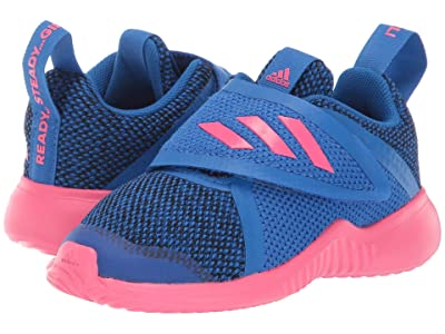 adidas Kids FortaRun X Knit CF (Toddler) (Blue/Black) Girls Shoes