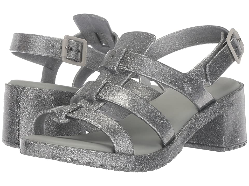 Mini Melissa Mel Flox High (Little Kid/Big Kid) (Silver/Black) Girls Shoes