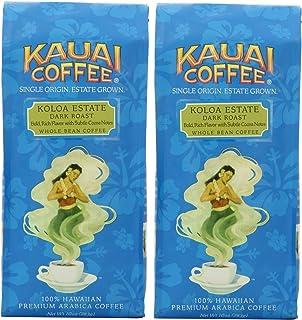 Kauai Coffee Koloa Estate Dark Roast, Whole Bean, 10 Ounce, Pack of 2