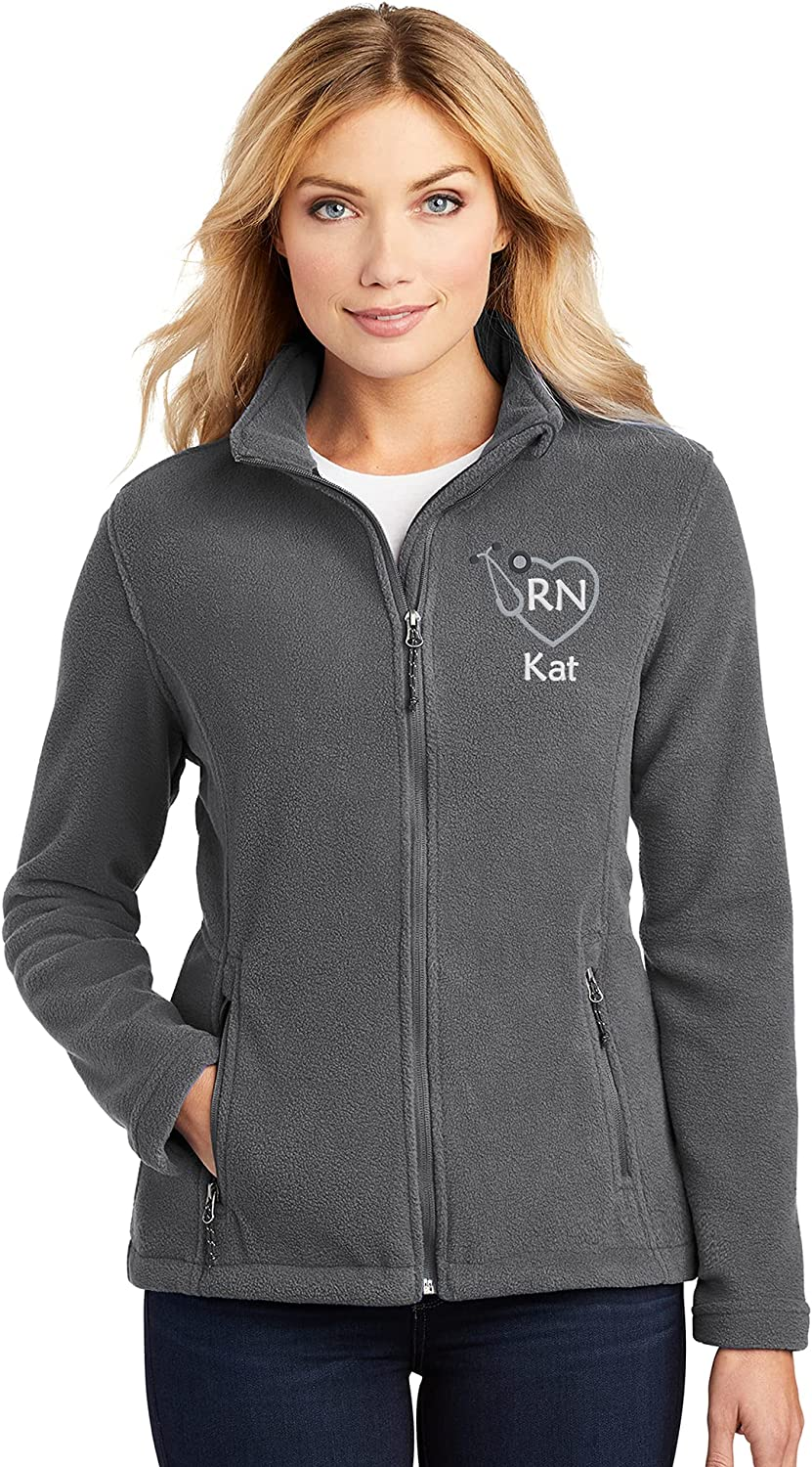Personalized RN Fleece Jacket Max 55% OFF Spring new work one after another Nurse for Gift