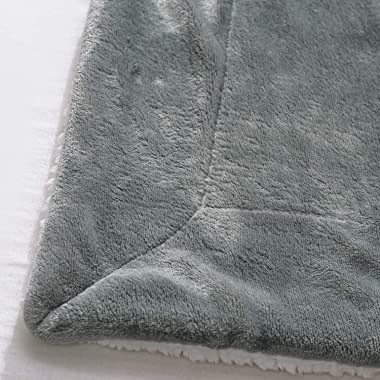 BEDELITE Sherpa Fleece Blanket Twin Size, Grey Throw Blankets for Couch & Bed, 480GSM Super Soft Plush Cozy Fuzzy Blanket