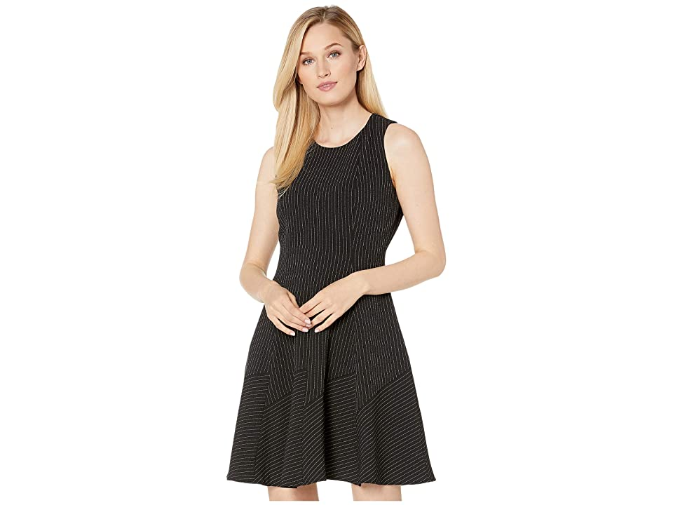 Anne Klein Seamed Fit Flare Dress (Anne Black/Anne White) Women
