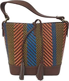 ALMALA FEMME ROUGE by mod MIKONOS bag cuoio multicolor 100% pelle MADE IN ITALY