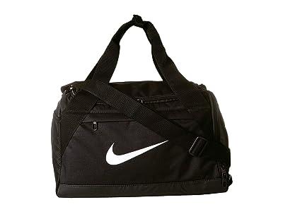 Nike Brasilia Extra Small Training Duffel Bag (Black/Black/White) Duffel Bags