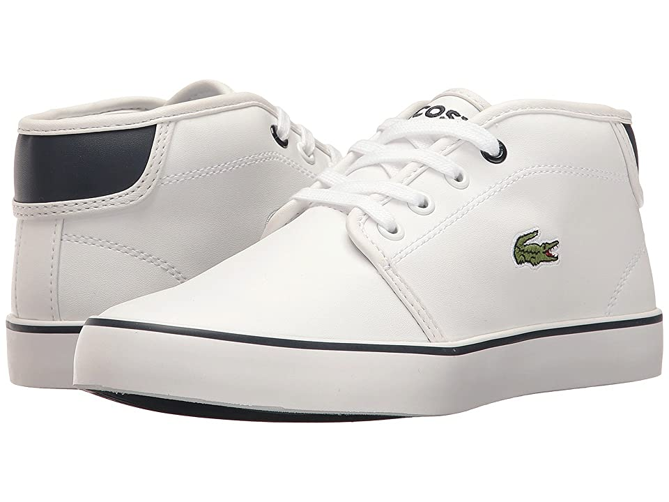 Lacoste Kids Ampthill 117 2 SP17 (Little Kid/Big Kid) (White/Navy) Kids Shoes