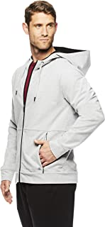 Gaiam Men's Foundation Full Zip up Jacket - Hooded Activewear & Yoga Sweater