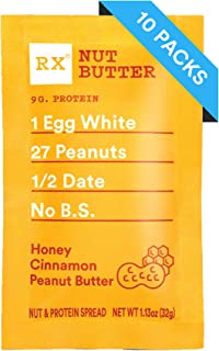 RX Nut Butter, Honey Cinnamon Peanut Butter, 1.13 Ounce (Pack of 10)