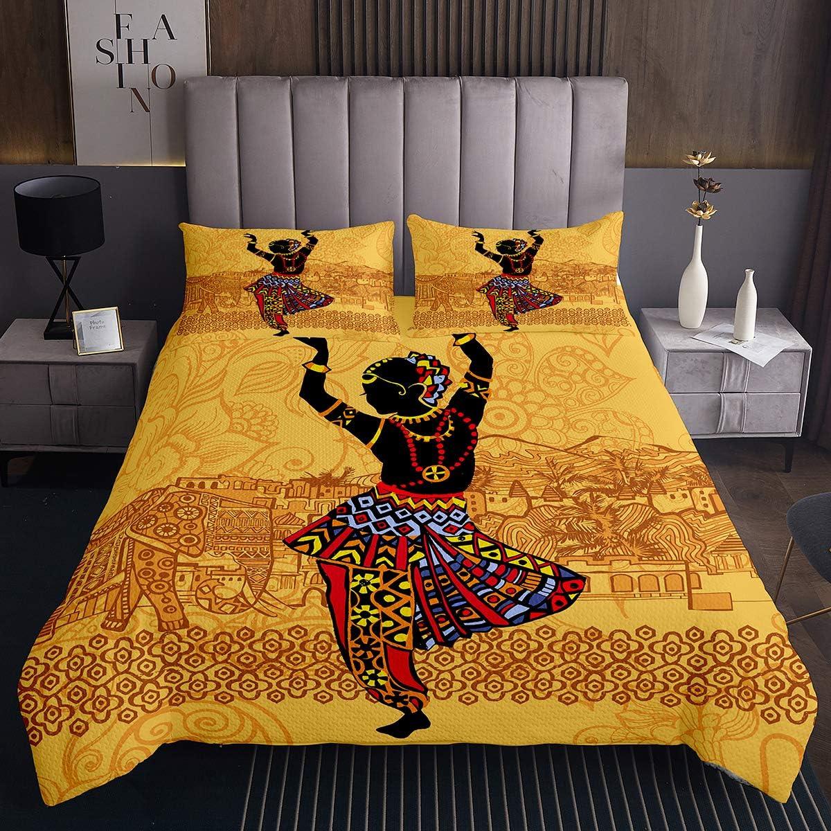 African Women Albuquerque Mall Coverlet Set Dancing Size Girls Bedding gift Queen