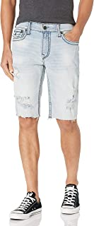 True Religion Men's Geno Big T Slim Fit Short with Back...