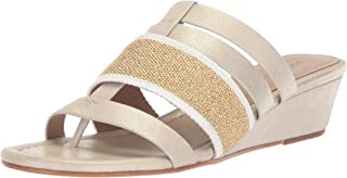 Donald J Pliner Women's DARA Wedge Sandal, Platino, 8.5 Medium US