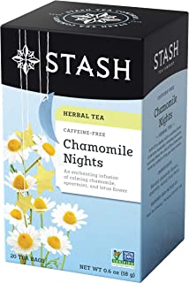 Stash Tea Chamomile Nights Herbal Tea 20 Count Tea Bags in Foil (Pack of 6) (Packaging May Vary) Individual Herbal Tea Bags for Use in Teapots Mugs or Cups, Brew Hot Tea or Iced Tea