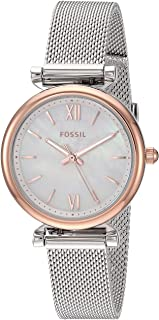 Fossil Womens Quartz Watch, Chronograph Display and Stainless Steel Strap ES4614