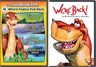 We're Back + The Land Before Time II-V 5-Movie Family Fun Pack (The Great Valley Adventure / The Time of the Great Giving / Journey Through the Mists / The Mysterious Island) A Dinosaur Story Movie