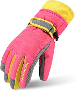 TRIWONDER Ski Gloves for Kids - Waterproof Snowboard Winter Warm Gloves Thermal Fleece Snow Gloves for Boys Girls