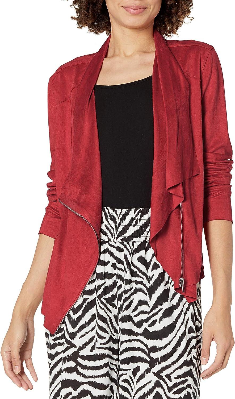 BLANKNYC womens Luxury Clothing Faux Front 代引き不可 送料無料激安祭 Suede Jacket Drape