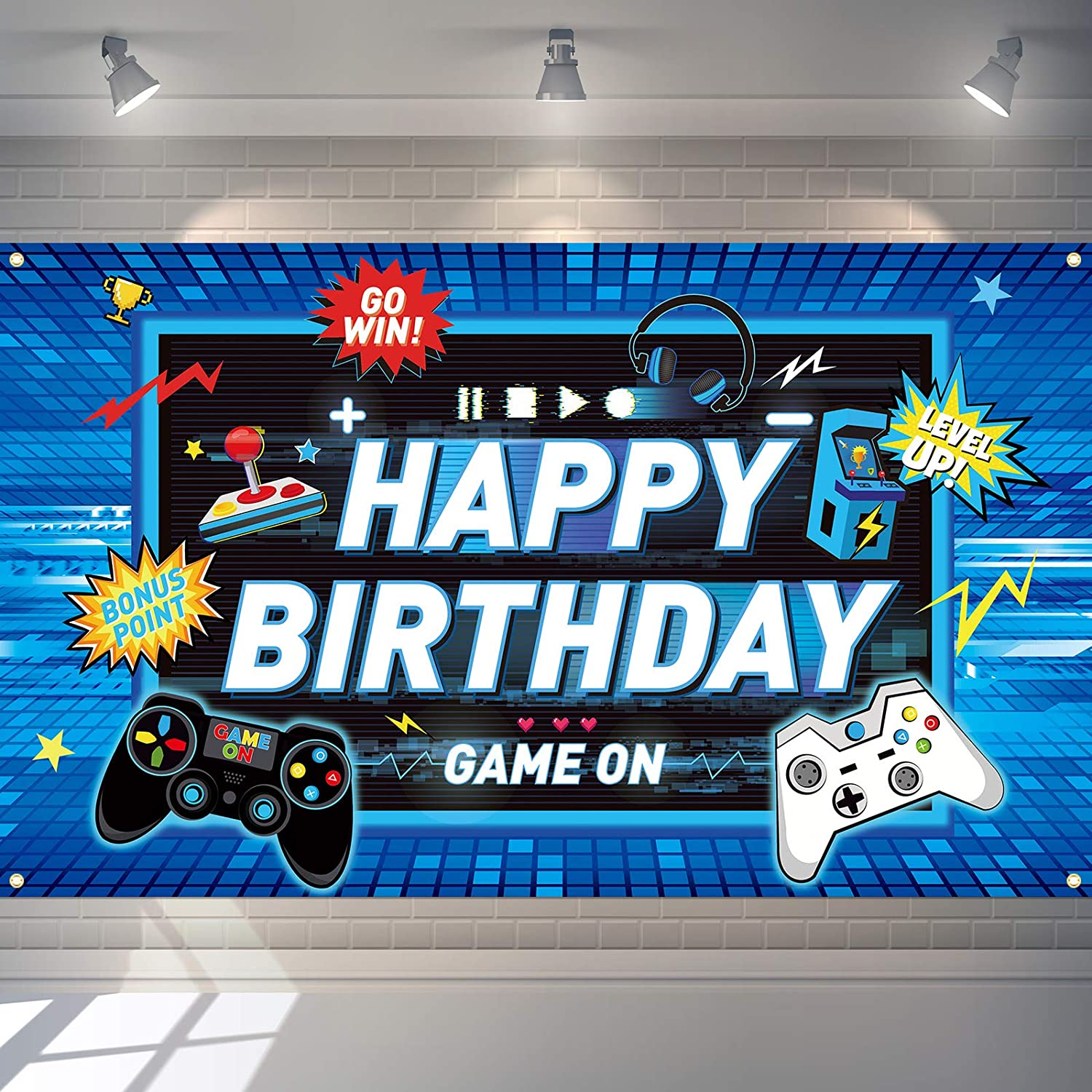 Sacramento Mall Video Excellence Game Backdrop Gaming Theme Photography Birthday Party Back
