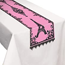 Amscan Paris Fabric Table Runner