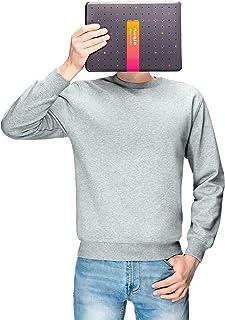 Nuqlo Felpa Uomo | Cotone Premium | Tessuto Interno in Fleece Light™ | Cuciture Nastrate | Maniche Lunghe | Polsini a Cost...