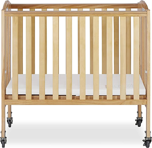 Dream On Me 2 In 1 Folding Birch Portable Crib Natural