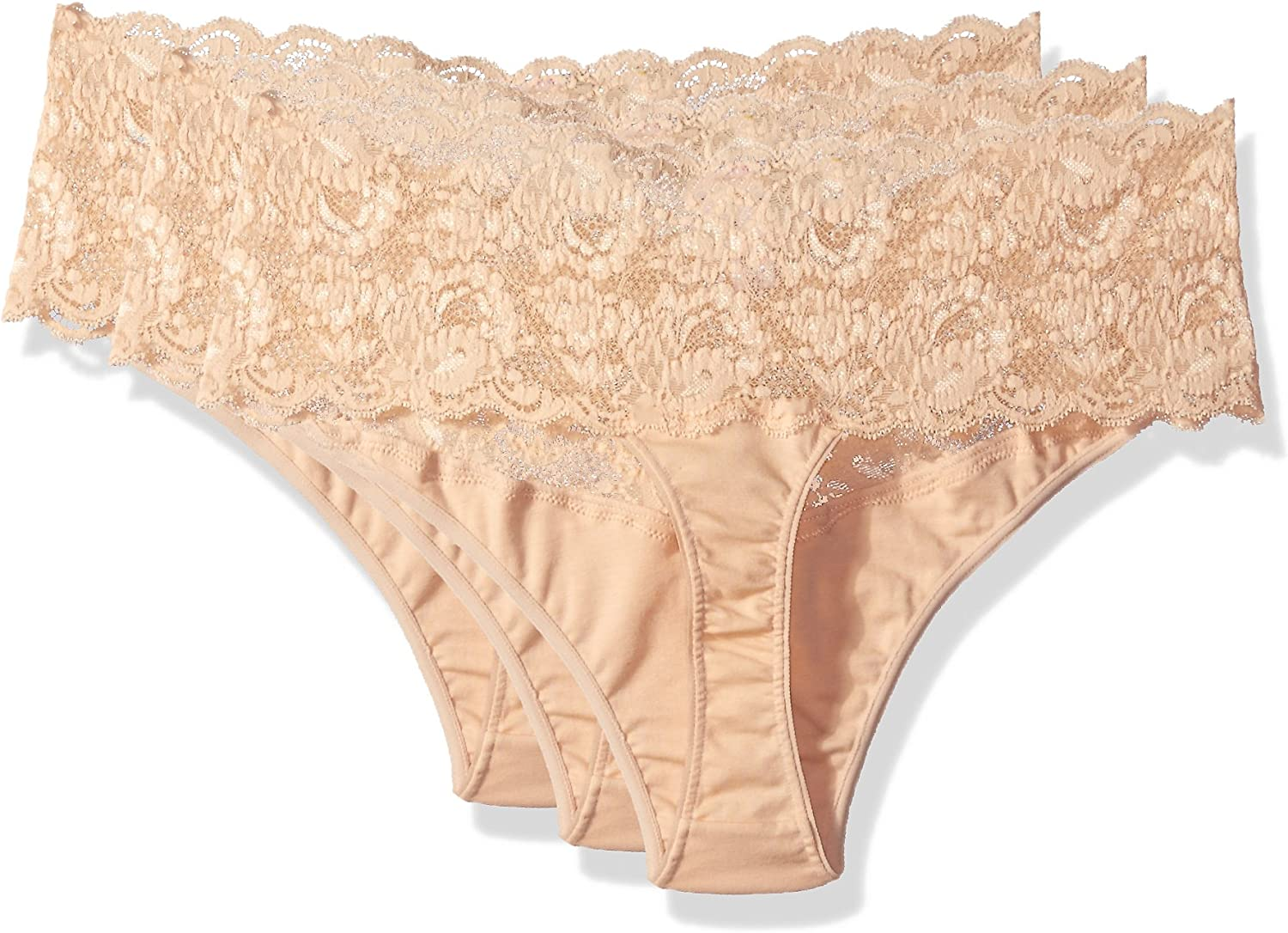 Cosabella Womens Say Never Lovelie Thong Plus Size 3 Pack Set
