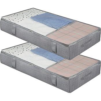 Under Bed Storage Zip Box Duvet Pillow Clothes Bedding AU Organiser Great K2C5