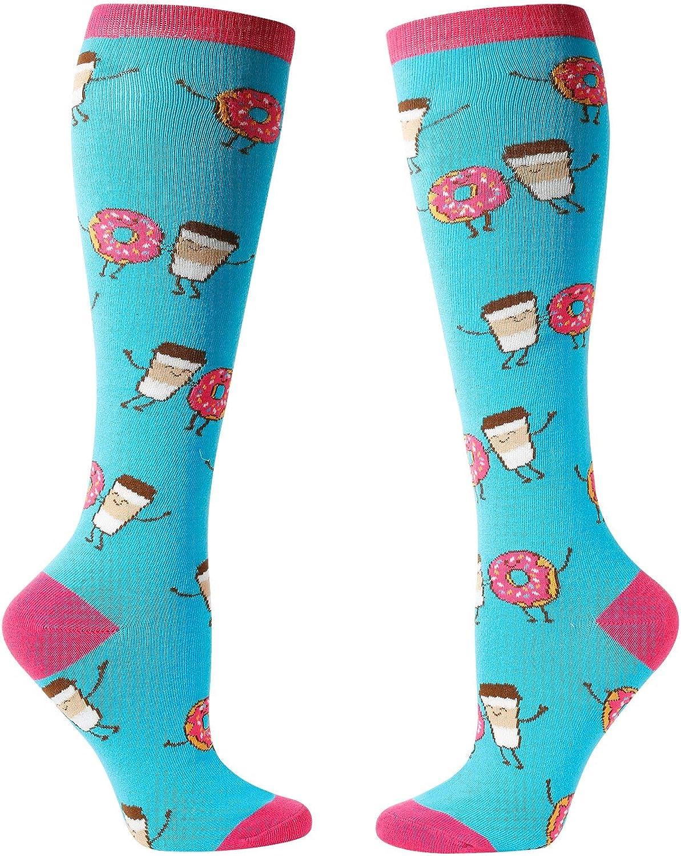 Women's America Flag Pineapple Donut Big Dill Pickle Taco Knee High Socks, Funny Over the Calf Socks