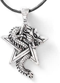 Viking Jewelry Pentagram Dragon Necklace for Men for Women