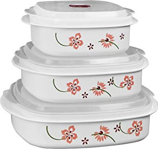 Corelle Coordinates by Reston Lloyd 6-Piece Microwave Cookware, Steamer and Storage Set, Pretty Pink