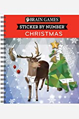 Brain Games - Sticker by Number: Christmas (28 Images to Sticker) Spiral-bound