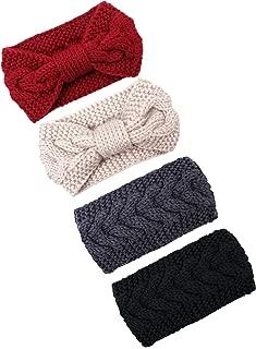 Cable Knit Headbands Crochet Head Band Braided Winter Warmer Ear Head Wraps for Women Girls