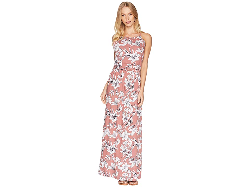 Roxy Pavement Border Strappy Maxi Dress (Withered Rose Lily House) Women