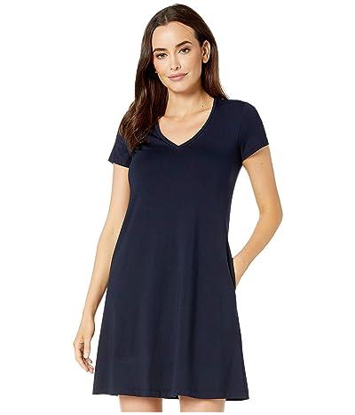 Karen Kane Quinn V-Neck Pocket Dress (Navy) Women