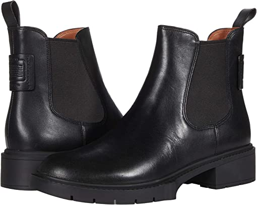 COACH Lyden Leather Bootie,Black