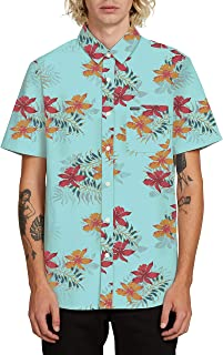 Volcom Men's Wave Fayer Hawaiian Short Sleeve Shirt