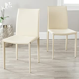 Safavieh Home Collection Karna Modern Cream Dining Chair (Set of 2)