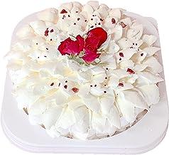 ランジェラ ホワイトローズ 5号 (レアチーズケーキ デコレーションケーキ 誕生日ケーキ バースデーケーキ 冷凍ケーキ バラのケーキ チーズ)