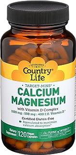 Country Life Cal-Mag Veg Capsules, 120 Capsules