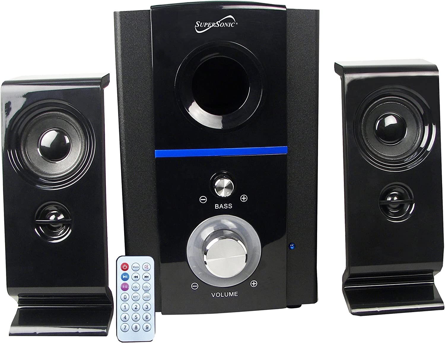 Virginia Beach Mall Supersonic SC1126 Clear Multimedia FM Set shipfree Speakers 2 of